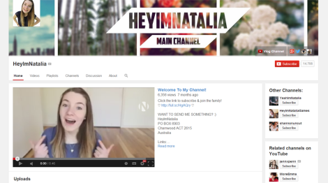 HeyImNatalia has been uploading videos since 2011, building an extremely loyal fanbase on the site.