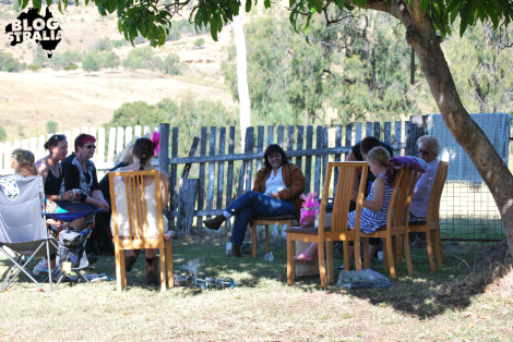 Guests sat in the shade and shared memories and stories over a cup of coffee.